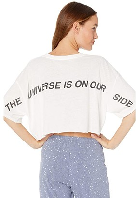 Spiritual Gangster Solstice Cropped Tee (Universe Stone) Women's Clothing