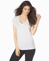 Soma Intimates Cotton Short Sleeve V-Neck Tee