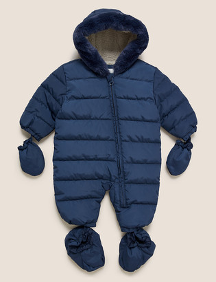 Marks and Spencer Padded Hooded Snowsuit (0-3 Yrs)