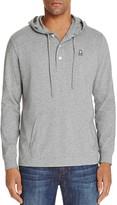 Psycho Bunny Button Placket Pullover Hoodie Sweatshirt
