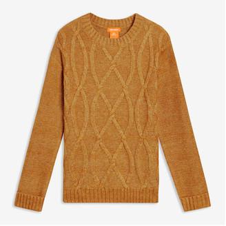 Joe Fresh Kid Girls' Cable Knit Sweater, Mustard (Size S)