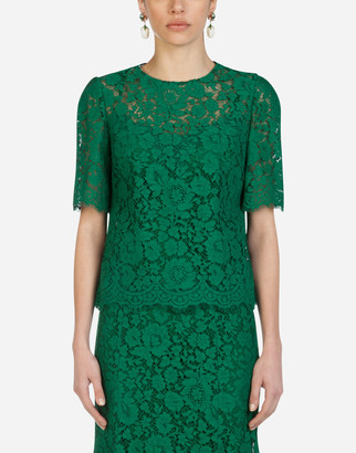 Dolce & Gabbana Short-Sleeved Lace Top