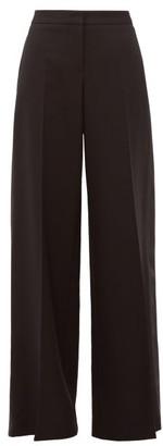 Alexander McQueen Wool-blend Wide-leg Tuxedo Trousers - Black