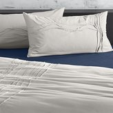CB2 Set Of 2 Twisted Silver Grey King Shams