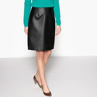 Anne Weyburn Faux Leather Skirt