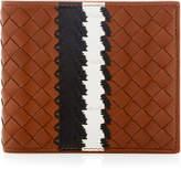 Bottega Veneta Striped Intrecciato Leather Wallet