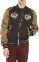 Alpha Industries Reversible Embroidered Bomber Jacket