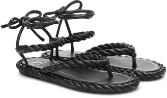 Valentino The Rope leather sandals