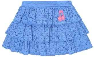 Mini Rodini Note cotton-blend lace skirt