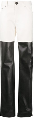 Peter Do High-Waisted Faux Leather Trousers