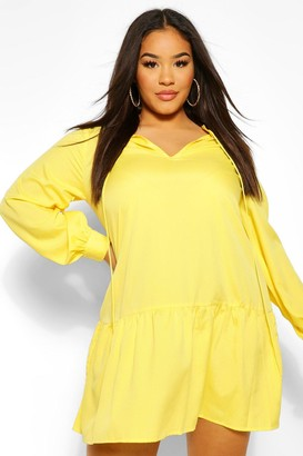 boohoo PLus Tiered Smock Dress