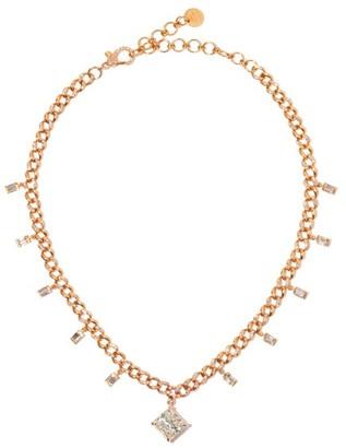 Shay Radiant Diamond & 18kt Rose-gold Choker - Rose Gold