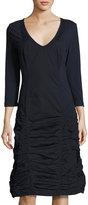 XCVI Fleur 3/4-Sleeve Ruched Dress