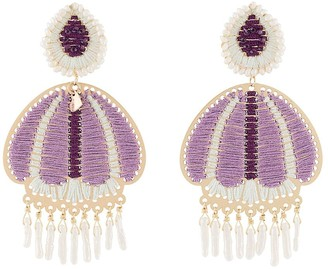 Mercedes Salazar Embroidered Jellyfish Earrings