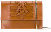 Casadei lattice detail shoulder bag