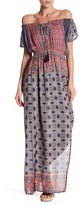 Angie Off-the-Shoulder Print Maxi Dress