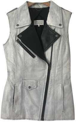 Maison Margiela White Leather Jackets