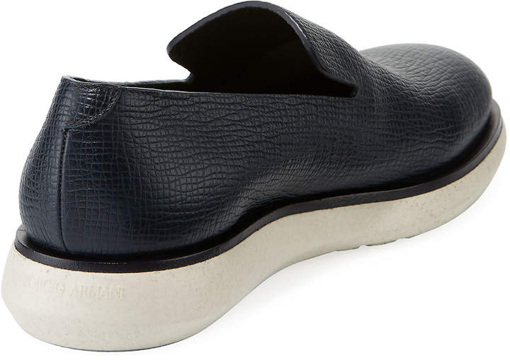 Giorgio Armani Men's Textured Slip-On Sneakers