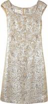 Notte by Marchesa Brocade shift dress