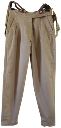 Laurence Dolige Beige Cotton Trousers for Women