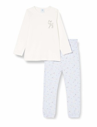 Sanetta Baby Girls' Schlafanzug Broken White Pajama Top