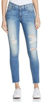 Flying Monkey Distressed Skinny Jeans in Medium Wash