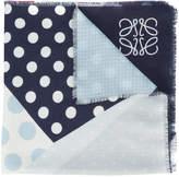 Loewe patchwork polka dot scarf