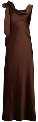 Diane von Furstenberg Sia Satin Asymmetric A-Line Dress
