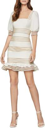 BCBGMAXAZRIA Puff-Sleeve Mini Dress
