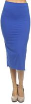 Royal Blue Side-Slit Pencil Skirt