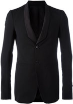 Rick Owens shawl collar blazer - men - Virgin Wool/Spandex/Elastane/Cotton/Cupro - 50
