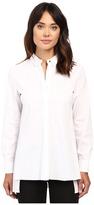 Ellen Tracy Stepped Hem Shirt