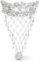 Erickson Beamon Rhodium-plated Swarovski Crystal Glove - Silver