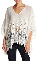 Love Stitch Crochet Dolman Sleeve Sweater