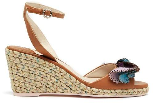 Sophia Webster Soleil Lucita Espadrille Wedge Sandals - Womens - Tan Multi