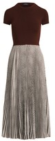 Thumbnail for your product : Ralph Lauren Glen Plaid Pleated Dress