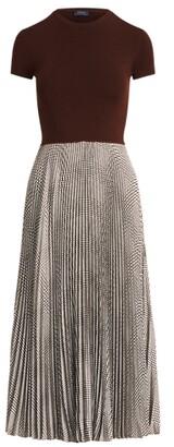 Ralph Lauren Glen Plaid Pleated Dress