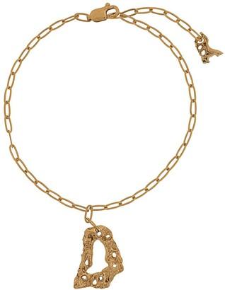 LOVENESS LEE Cory textured-charm bracelet