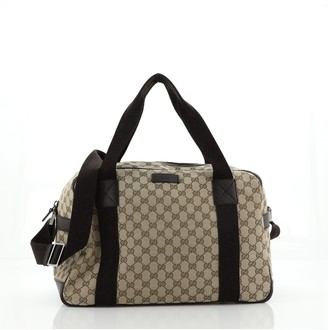 Gucci Convertible Web Duffle Bag Guccissima Nylon Large