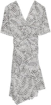 Isabel Marant Arodie Dress in Ecru/Brown