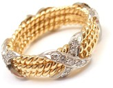 Tiffany & Co. Jean Schlumberger 18K Yellow Gold Diamond Rope Ring