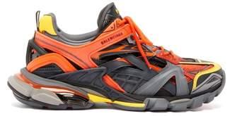 Balenciaga Track.2 Panelled Trainers - Mens - Orange