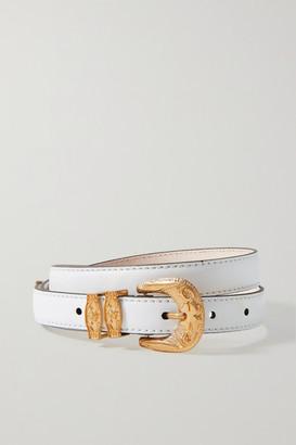 Versace Leather Waist Belt - White