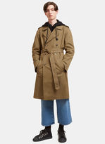 J.w. Anderson Men's Rainbow-stitched Trench Coat In Khaki