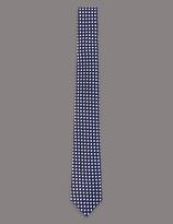 Autograph Pure Silk Geometric Print Tie