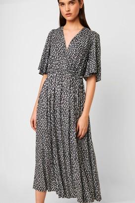 French Connenction Akira Drape Printed Dress