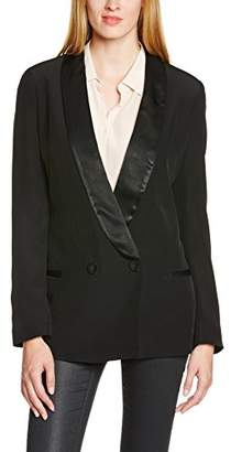 Naf Naf Women's LYRTOLY V1 Waistcoat, Black-Schwarz (0625 Noir)