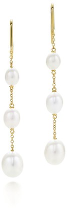 Tiffany & Co. Elsa Peretti Pearls by the YardTM chain earrings in 18k gold