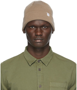 Norse Projects Khaki Merino Wool Norse Top Beanie