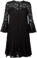 Valentino ruffled guipure lace mini dress